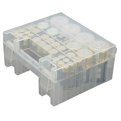 Whizzotech Battery Organizer Storage Case for AA AAA C D 9V Battery Holder Box Container BL12