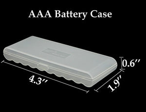 Whizzotech AAA Battery Storage Case Battery Holder Organizer Box BL14