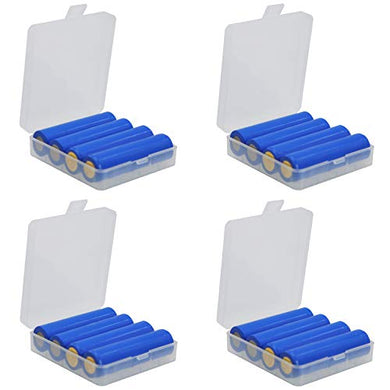 Whizzotech 18650 Battery Case Battery Storage Box Holder/Organizer/Container Lot of 4