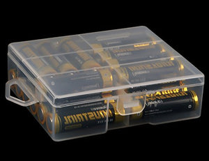 Whizzotech AAA Battery Storage Case Battery Holder Organizer Box Holds for lot of 24 AAA Batteries BL07