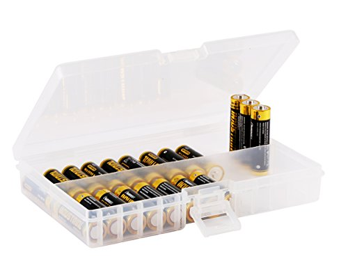 Whizzotech AA Battery Storage Case Battery Holder Organizer Box BL01 (Holds 48 AA)