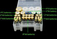 Load image into Gallery viewer, Whizzotech Battery Organizer Storage Case for AA AAA C D 9V Battery Holder Box Container BL12