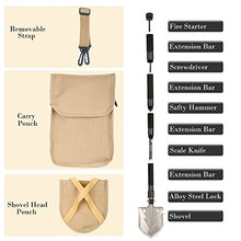 Load image into Gallery viewer, Whizzotech Military Folding Shovel Tactical Entrenching Tool Compact Car Emergency Kit Portable Heavy Duty Survival Gear Multifunctional Shovel with Carrying Pouch for Camping Hiking Backpacking