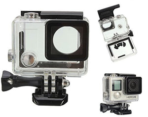 Whizzotech Underwater Cover Waterproof Case Protective Housing for GoPro Hero 3+/ Hero 4 Camera
