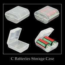 Load image into Gallery viewer, Whizzotech C Battery Organizer Storage Case Plastic Battery Holder Holds 2 C Batteries Pack of 4 BL16 (C-2PC)