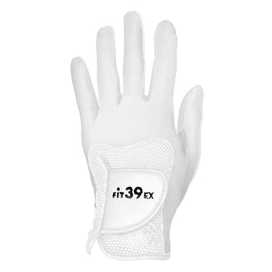 FiT39 Left Hand Golf Glove Classic Style (White Base)