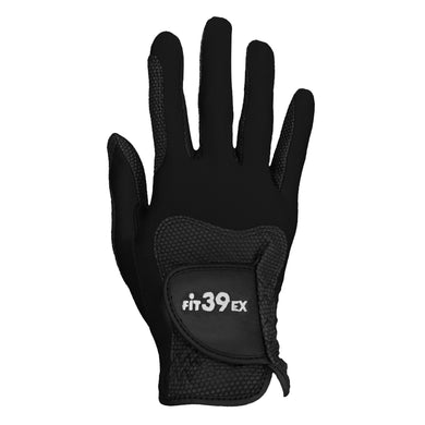 FiT39 Golf Glove -- Right Hand Classic Style (Black Base)