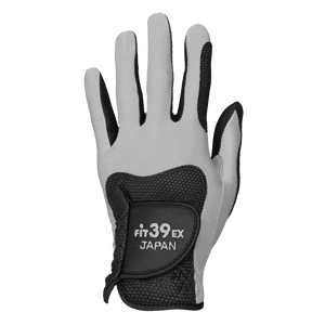 FiT39 Left Hand Golf Glove Classic Style (Black Base)