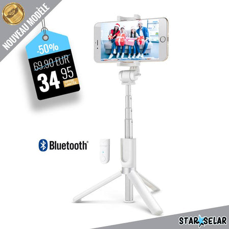 Support Smartphone Blanc avec Bluetooth