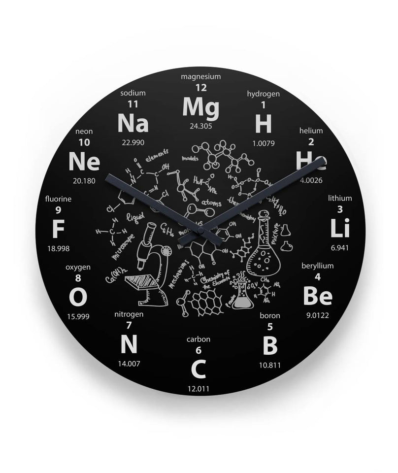 "Periodic Chemistry Wall Clock 11"" Round Wall Clock"