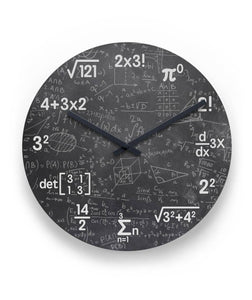 "Mathematics Wall Clock 11"" Round Wall Clock"
