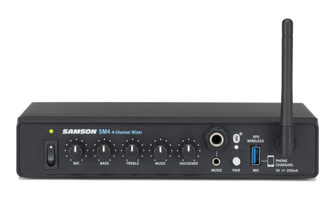 Image of Samson SM4 4-Channel Line Mixer w/Bluetooth