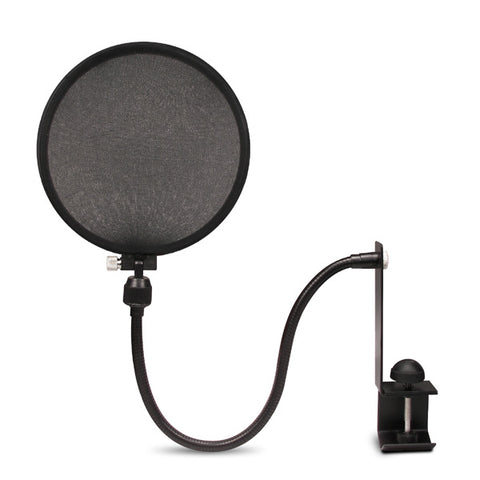 Nady MPF-6 Microphone Pop Filter Screen with Gooseneck/Clamp