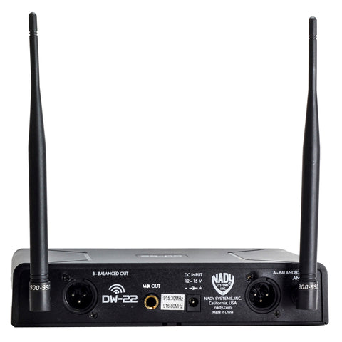 Image of Nady DW-22 Dual Digital Wireless Handheld & Lapel Microphone System