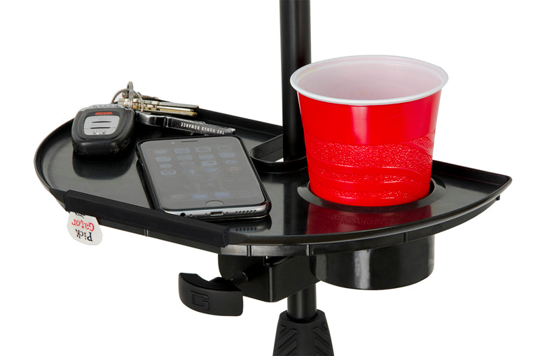 Frameworks Mic Stand Drink Holder Accessory Tray w/Guitar Pick Holder