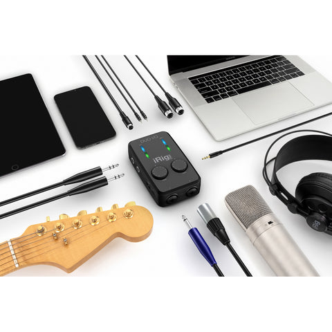 Image of IK Multimedia iRig Pro Duo I/O Mobile Audio Interface for Mac, PC, IOS, Android