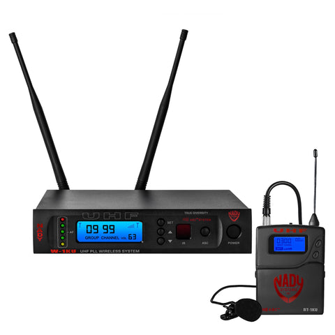 Nady W-1KU LT 1000-Channel Professional UHF Lapel/lavalier Microphone Wireless System
