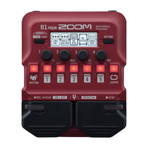 Zoom B1 FOUR Multi-Effects Processor for Bass Guitar
