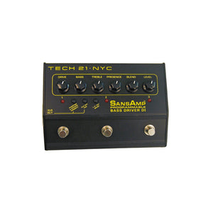 Tech 21 SansAmp Bass Driver DI Programmable Preamp for Bass Guitar