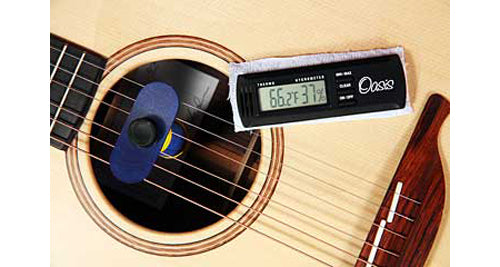 Oasis OH1 Guitar Humidifier/OH2 Hygrometer/Thermometer Bundle Pack