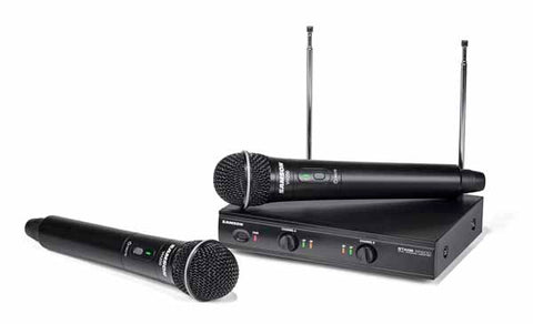 Image of Samson Stage 200 Dual-Channel VHF Handheld Wireless Microphones System - B
