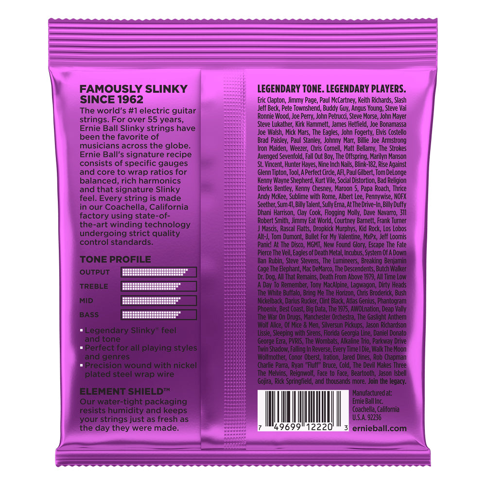 Ernie Ball Power Slinky Nickel Wound Electric Guitar Strings 11-48