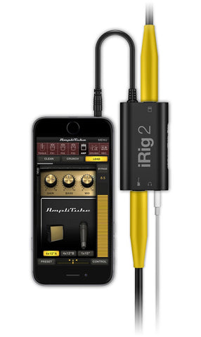 IK Multimedia iRig 2 Guitar Interface for iPhone/iPad/IOS/Android/Mac