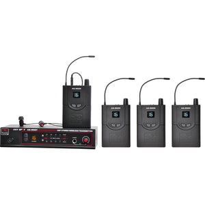 Galaxy Audio AS-950 Wireless In-Ear Monitor System - 4-Pack - Freq. N 518-542 MHz