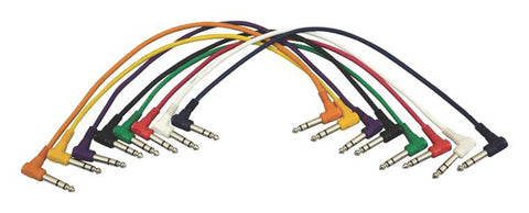 Hot Wires PC18-17TRS-R Right-Angle Patch Cables (TRS-TRS, 8-pack)
