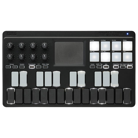 Image of Korg NanoKEY Studio Mobile MIDI Keyboard Wireless Controller w/Bluetooth