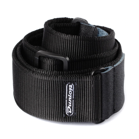 Image of Dunlop D3809BK Solid Black Guitar Strap
