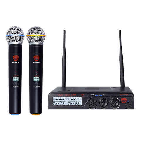 Image of Nady U-2100 Dual HT 200-Channel UHF Wireless Handheld Microphone System