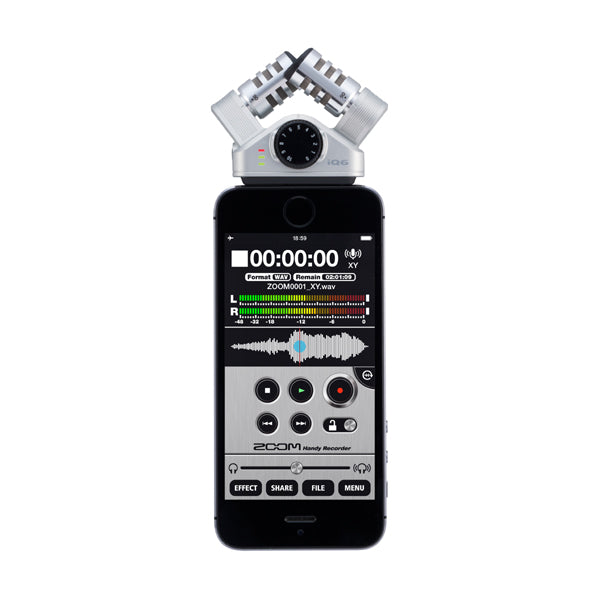 Zoom iQ6 X/Y Stereo Microphone for IOS - iPhone, iPad, iPod Touch