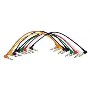 Hot Wires PC18-17QTR-R Right-Angle Patch Cables (QTR-QTR, 8-pack)
