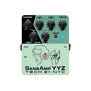 Tech 21 Geddy Lee Signature SansAmp YYZ Bass Preamp Pedal