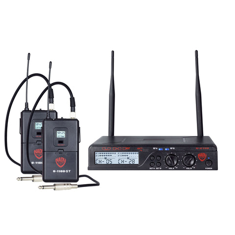 Nady U-2100 Dual GT 200-Channel UHF Wireless Instrument/Guitar System
