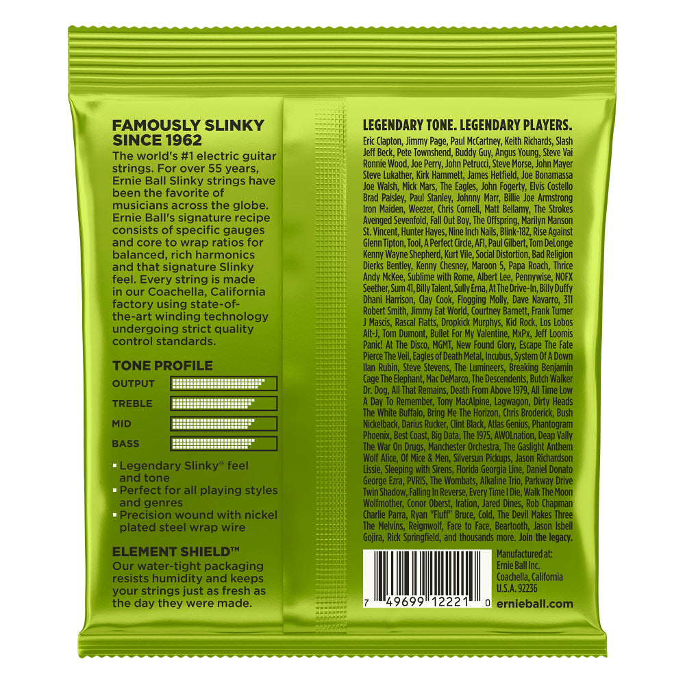 Ernie Ball Regular Slinky Nickel Wound Electric Guitar Strings 10-46