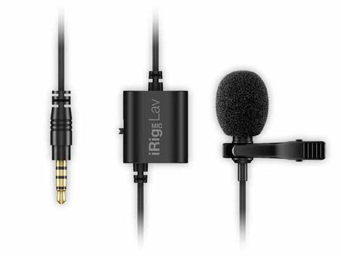 IK Multimedia iRig Mic Lav 2 Pack Lavalier Microphone for iPhone/iPad/Android