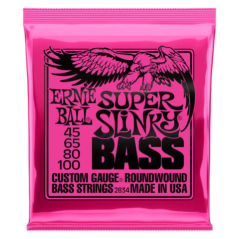 Image of Ernie Ball Super Slinky Nickel Wound Electric Bass Strings 45-100