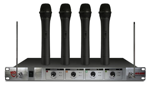 Nady 401X QUAD Wireless 4-Channel Handheld Microphone System