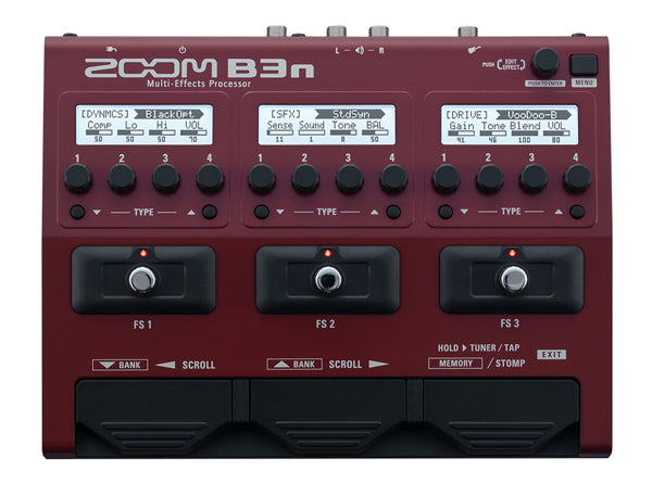 Zoom B3N Multi-Effects Bass Guitar Pedal