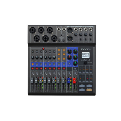 Zoom LiveTrak L-8 8-Channel Digital Audio Mixer and Recorder