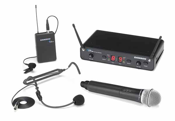 Samson Concert 288 All-In-One Handheld/Lavalier/Headset Wireless Microphone System - I Band