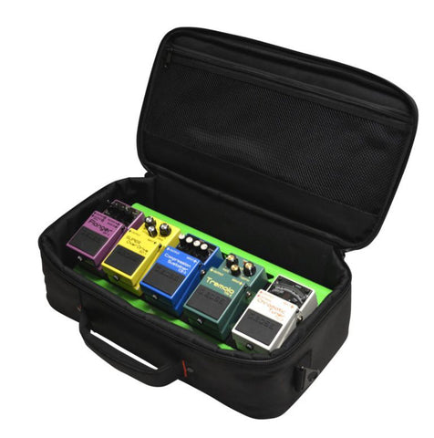 Gator Cases GPB-LAK-GR Small Alluminum Pedal Board w/Carry Bag - Green