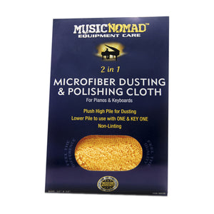 Music Nomad MN230 Microfiber Dusting & Microfiber Polishing Cloth for Pianos & Keyboards