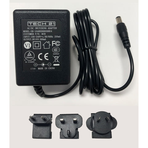Tech 21 DC9 Universal Power Supply (120-240Hz) w/Adapter Plugs
