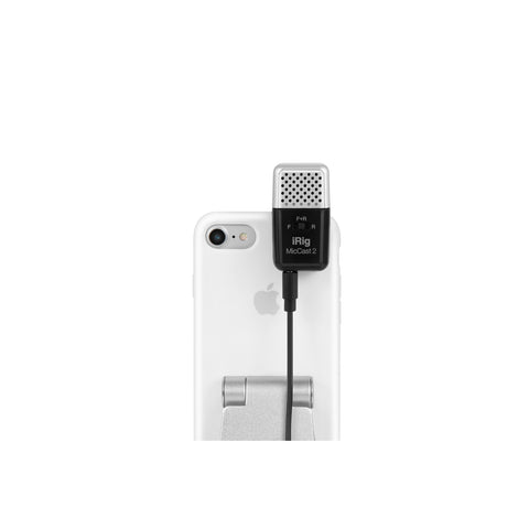 Image of IK Multimedia iRig Mic Cast 2 Podcasting Microphone for Phones/Tablets