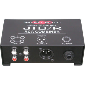 Galaxy Audio JIB/R RCA to XLR or 1/4 Inch Combiner Box
