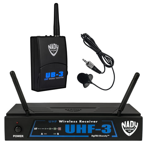 Image of Nady UHF-3 Wireless Lavalier Microphone System