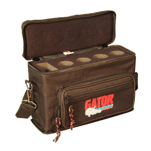 Gator GM-4 Padded Microphone Bag for 4 Mics and Cables